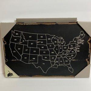New Wall hanging United States USA Chalkboard Distressed Wood 20x13